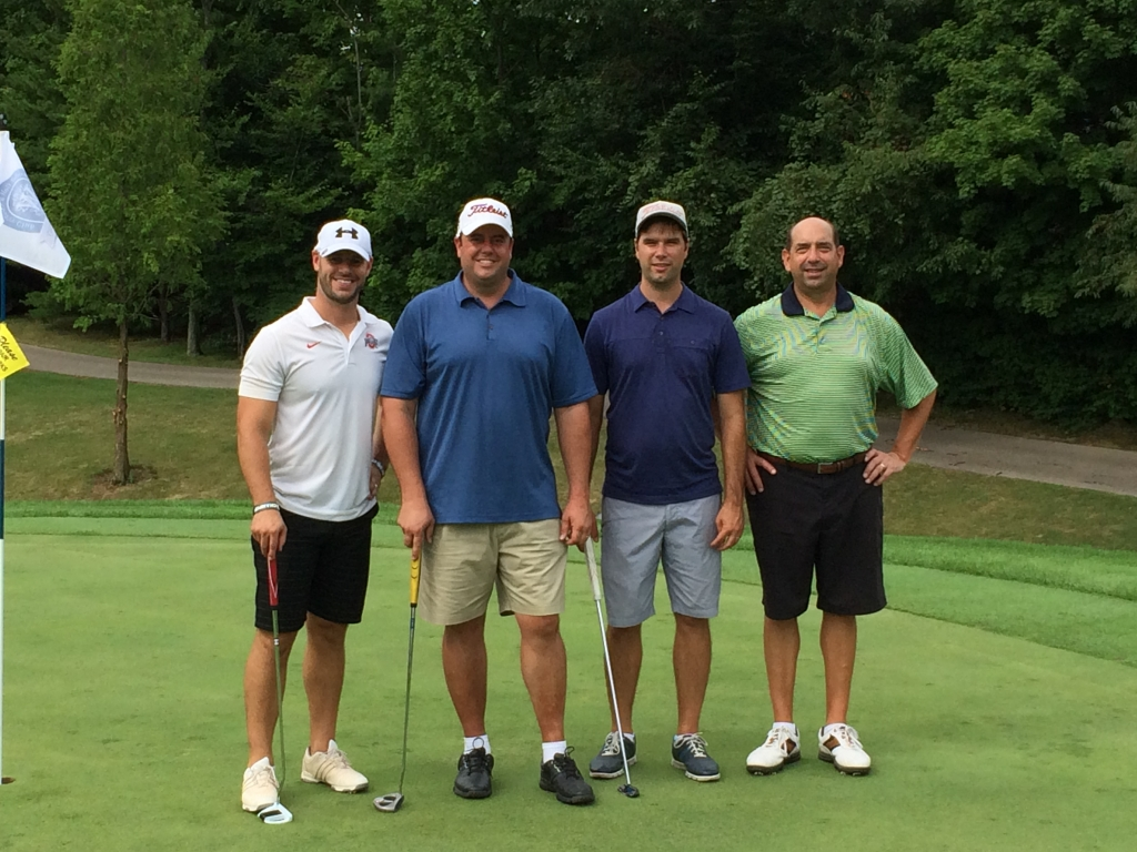 Team Wenzel: PJ, Fritz, Aaron, and Matt, winners at -12