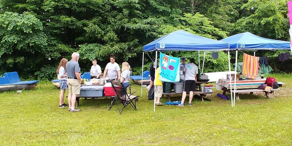Older girls camp site